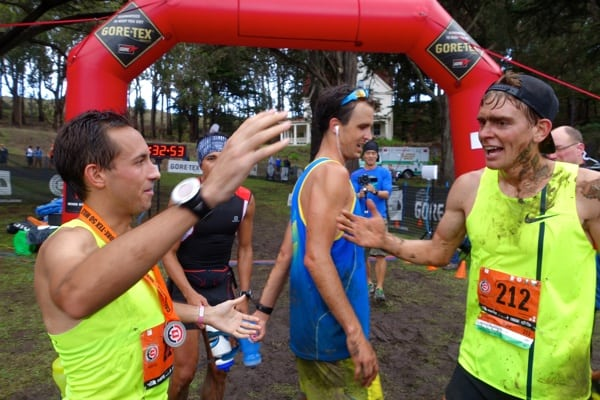 Alex Varner - Jorge Maravilla - Dylan Bowman - Tim Tollefson - 2014 TNF EC 50 - finish