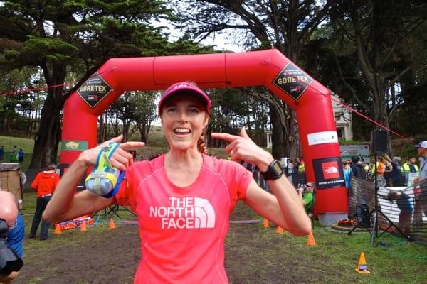 Stephanie Howe - 2014 TNF EC 50 - finish
