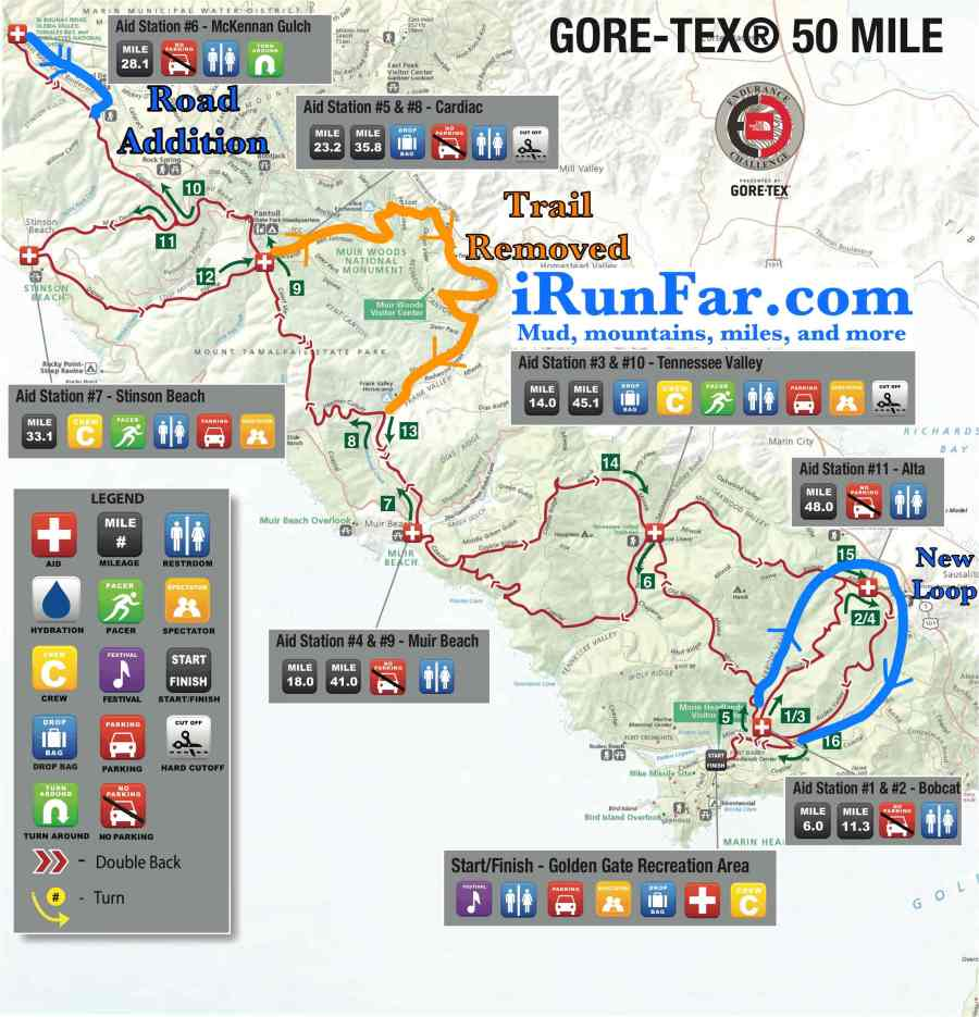 2014 TNF 50 Course Changes