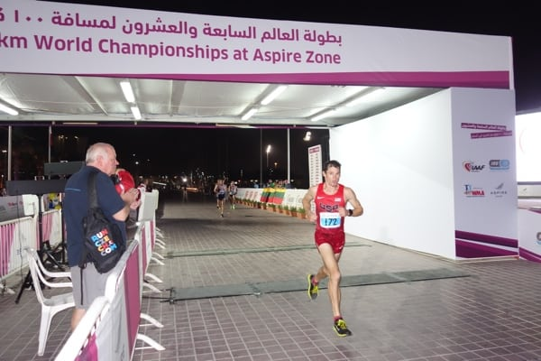 Max King - 100k world championships running solo