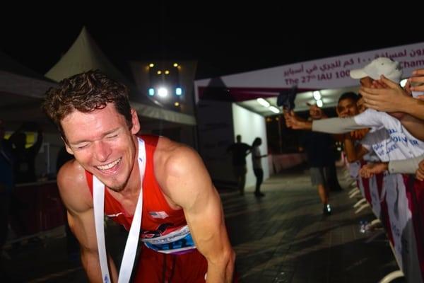 Max King - 2014 IAU 100k World Champion euphoria