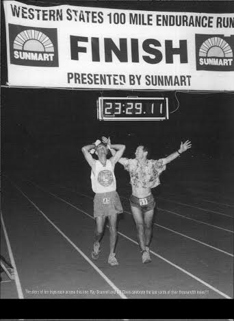 Ray Scannell and Bill Davis 1999 Western States 100