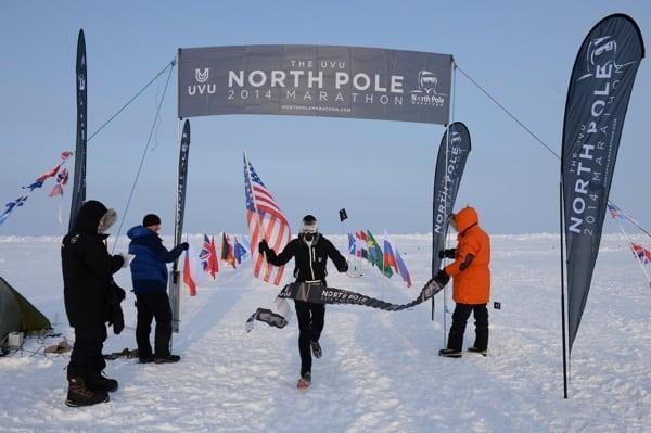 Michael Wardian wins the 2014 North Pole Marathon