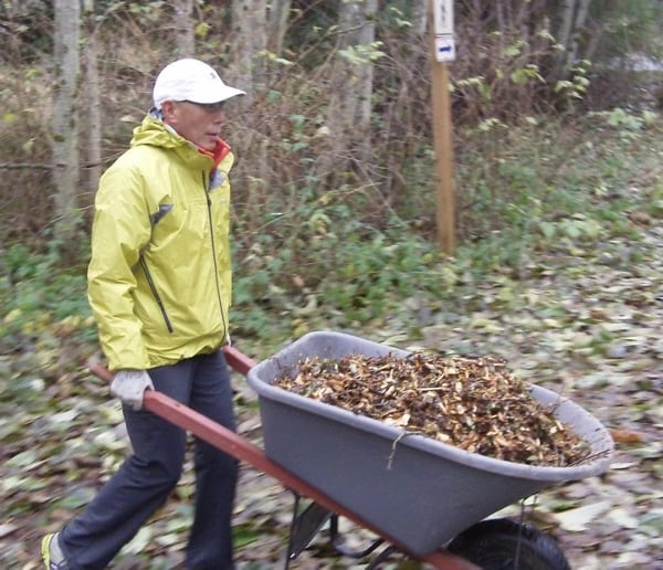 Glenn Tachiyama trail work
