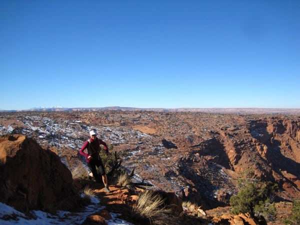 Trail runner durable surface Canyonlands National Park
