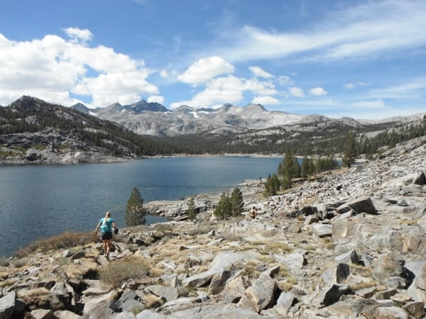 Trail runner Ansel Adams Wilderness