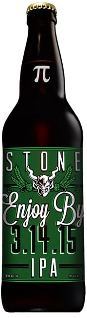 Stone Brewing Company's Enjoy By 3-14-15 IPA