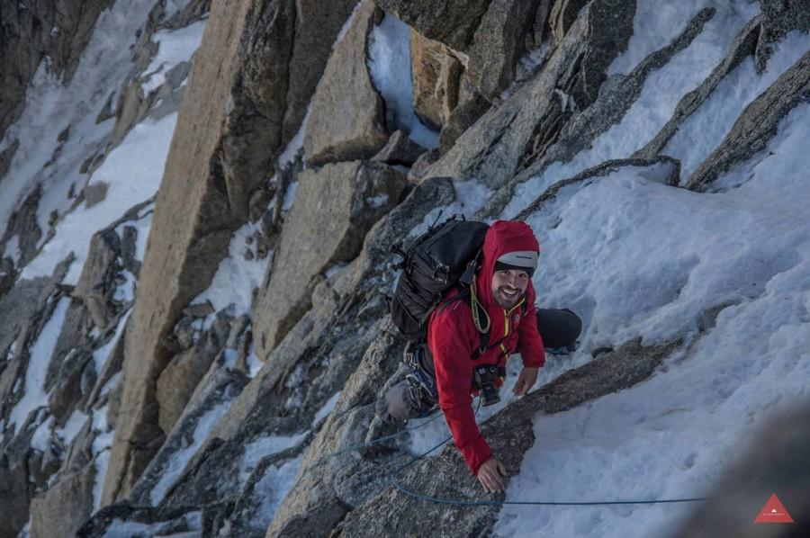 Jordi Saragossa climbing near Chamonix - photo 4