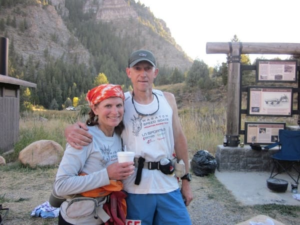 Steve and Deb Pero, Temple Fork aid station, photo 1