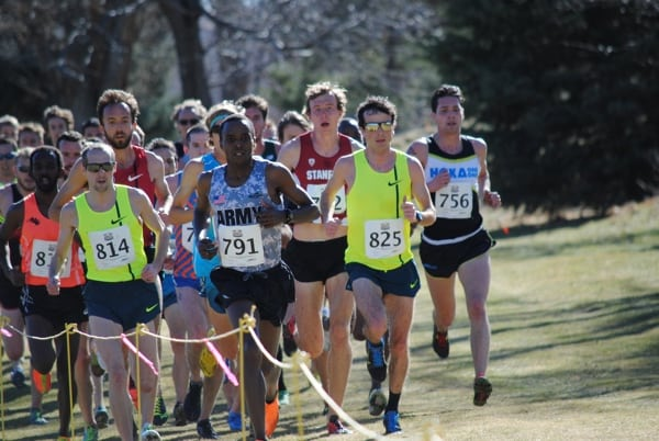 Patrick Smyth and lead pack - 2015 U.S. Cross Country Championships
