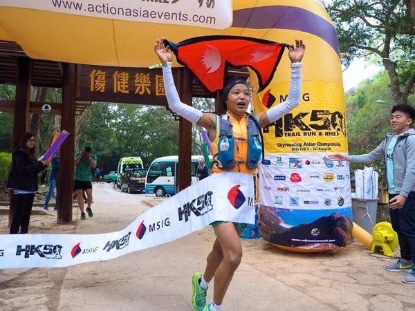 Mira Rai - 2015 MSIG Sai Kung 50k champion - 2015 Asia Skyrunning Continental Championships champion