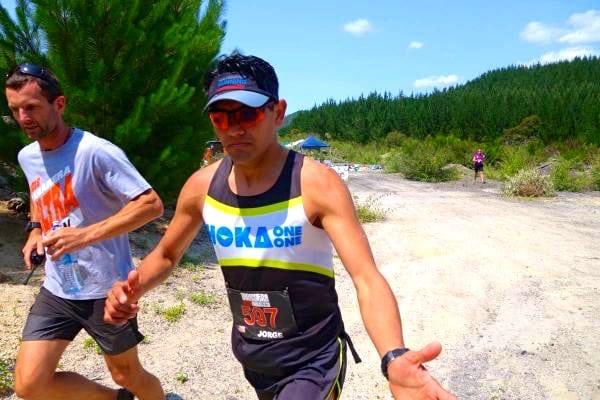 Jorge Maravilla - 2015 Tarawera Ultramarathon second place