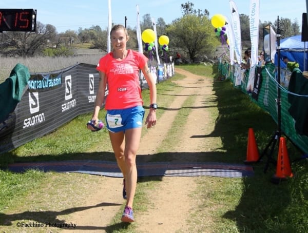 Stephanie Howe - 2015 Way Too Cool 50k second place