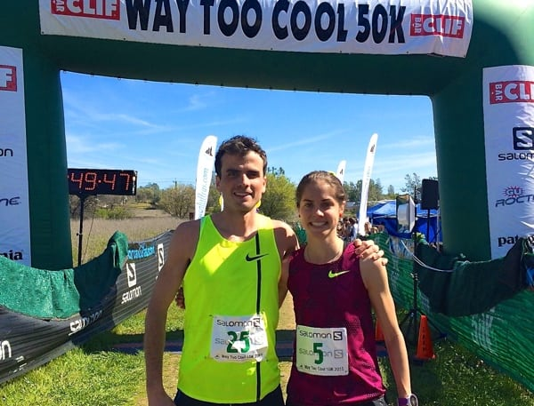 Patrick Smyth and Megan Roche - 2015 Way Too Cool 50k champions