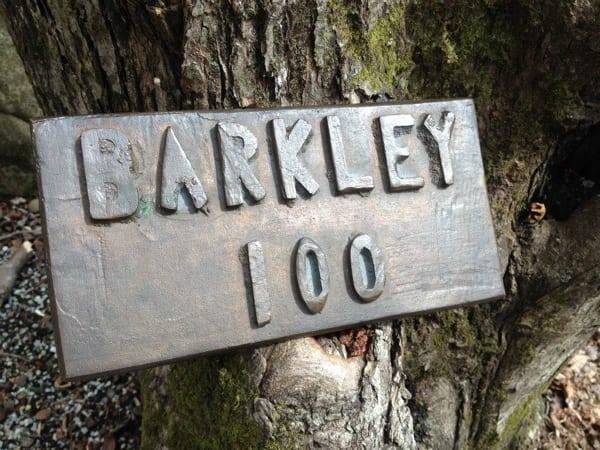 Barkley 100 sign - 2015 Barkley Marathons