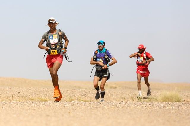 2015 Marathon des Sables - Stage 5 - Samir Akhdar - Chema Martinez - Salameh Al Aqra