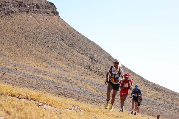 2015 Marathon des Sables - Stage 2 - Abdelkader El Mouaziz - Salameh Al Aqra - Chema Martinez