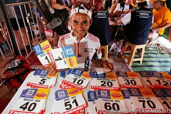 Rachid El Morabity - 2015 Marathon des Sables - pre-race bivouac