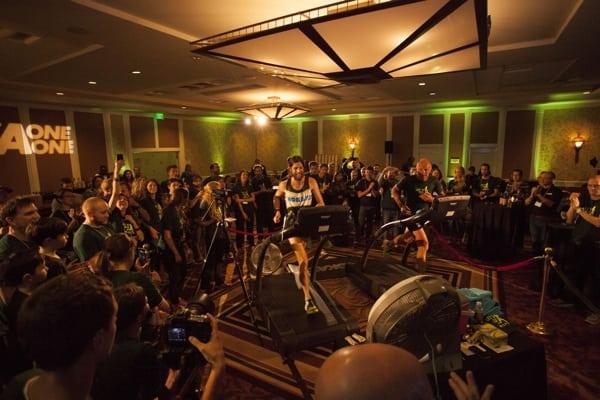 Michael Wardian - 2015 May treadmill 50k world record