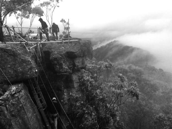 The North Face 100k Australia - Tarros Ladder installation
