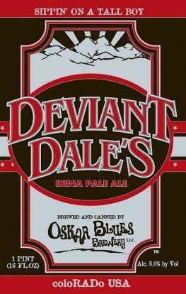 Oskar Blues Brewery Deviant Dale's Imperial IPA