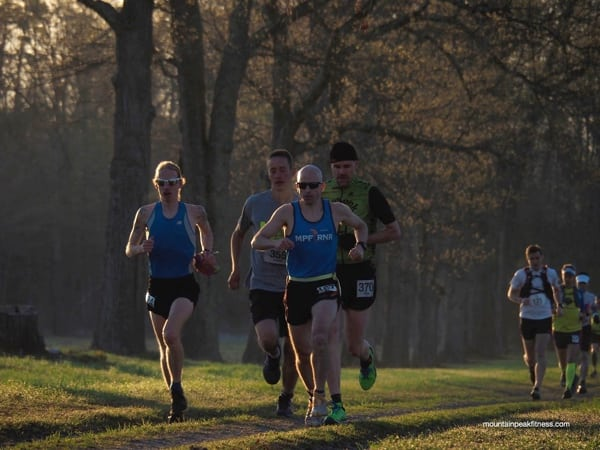 Lead men's pack - 2015 Rock the Ridge 50 Mile Challenge