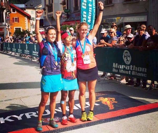Women's podium - 2015 Mont Blanc 80k