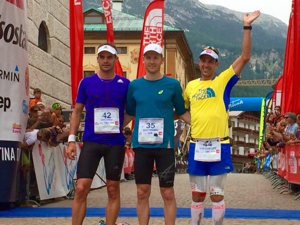 Men's podium - 2015 Lavaredo Ultra Trail