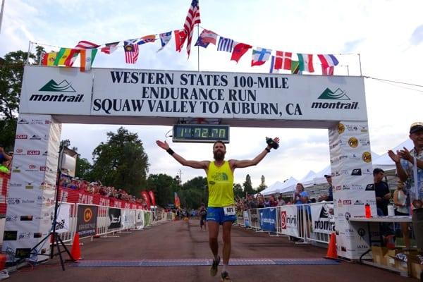 Rob Krar - 2015 Western States 100 - Finish shot