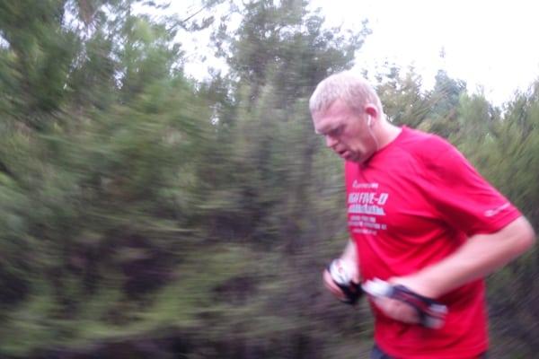 Paul Charteris - Paul running 2015 later miles