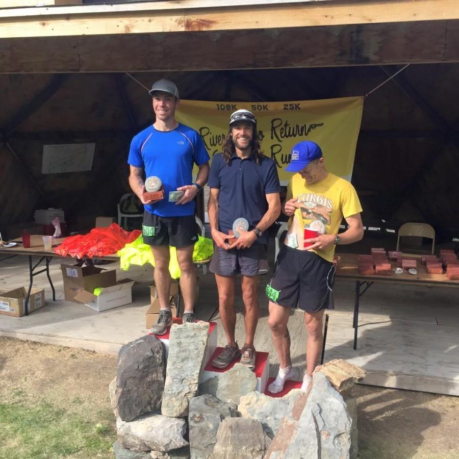 Men's podium - 2015 River of No Return Endurance Runs 108k