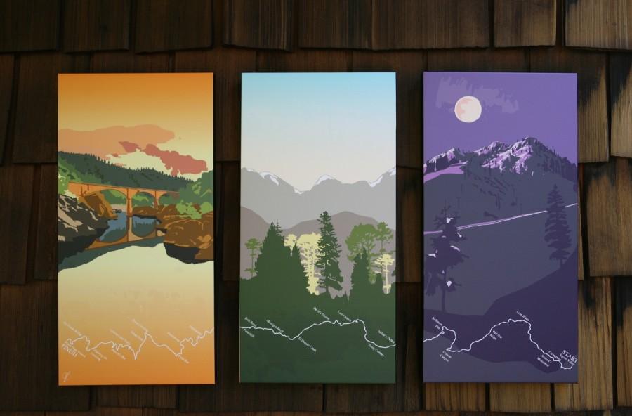 Maggie Tides Western States Trail Triptych