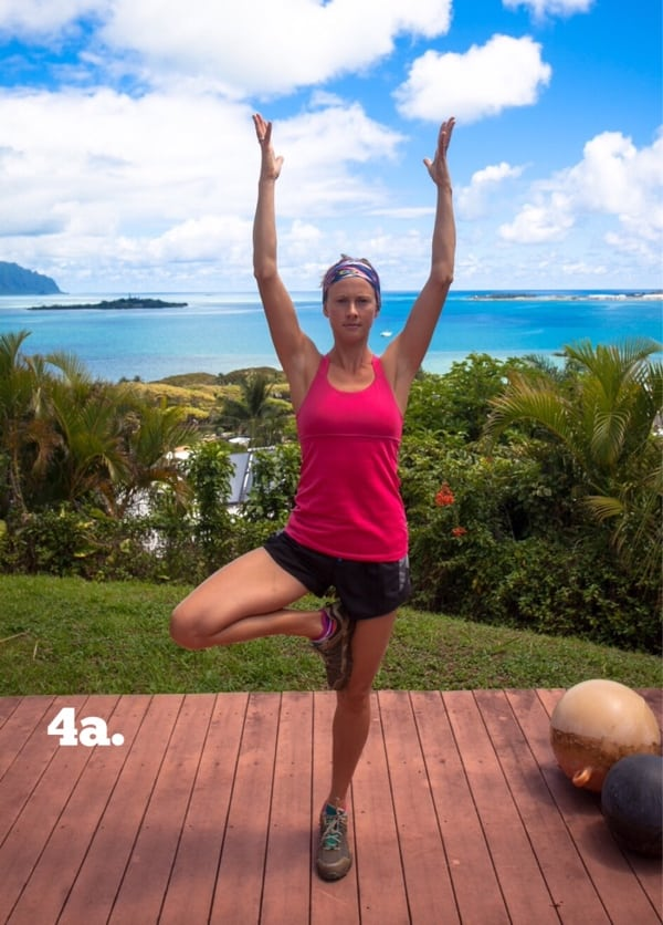 Yoga for Trail Runners - Tree Pose 4a