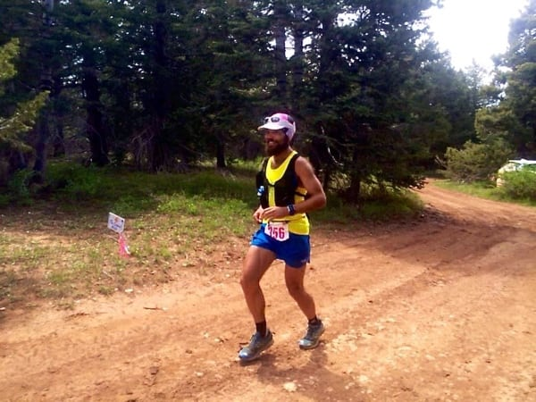 Florent Bouguin, 2015 Bryce 100 Mile champion