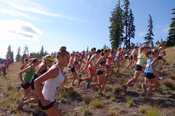 Start of the 2015 US Mountain Running Championships women's race