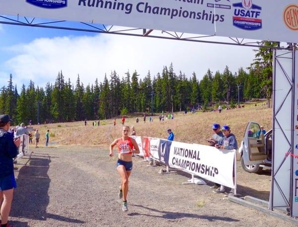 Kimber Mattox - 2015 US Mountain Running Championships third place