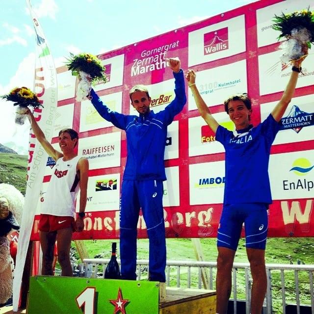 2015 World Mountain Running Association's Long Distance Championships men's podium