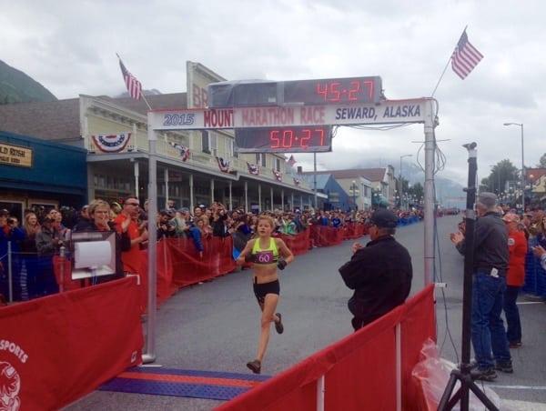 Allie Ostrander- 2015 Mount Marathon Race second place