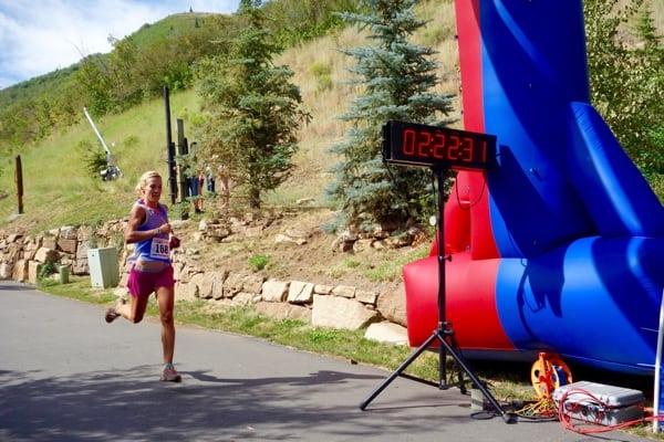 Sarah Kjorstad - 2015 Jupiter Peak Steeplechase champion