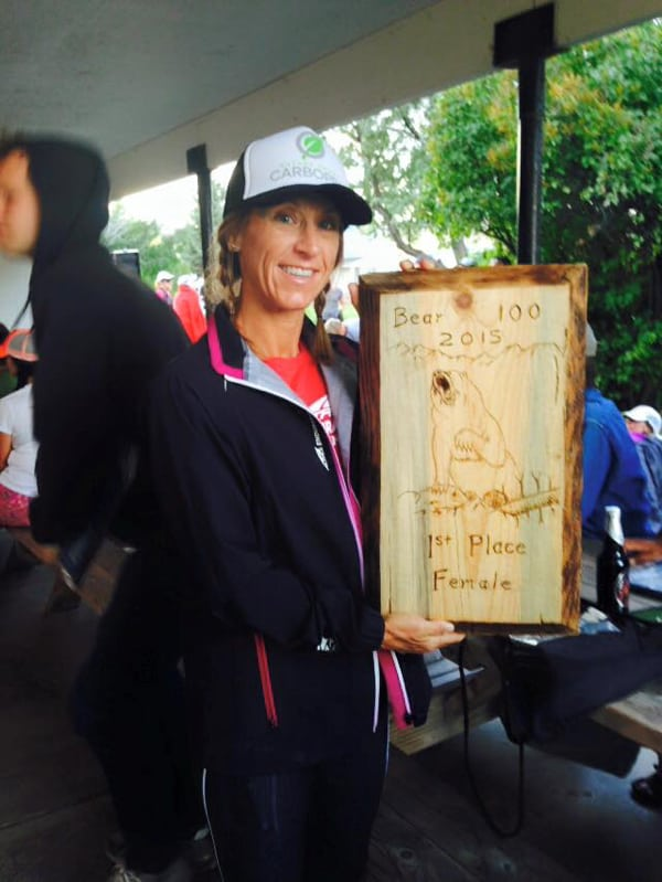 Angela Shartel, 2015 The Bear 100 Mile Champion