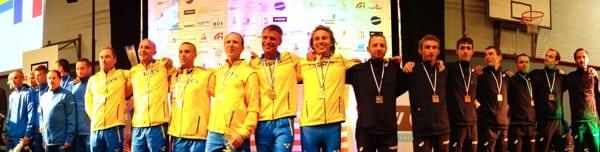 2015 IAU 100k World Championships - mens team podium
