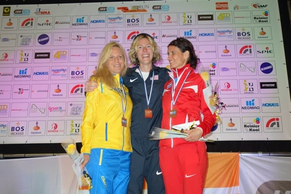 2015 IAU 100k World Championships - womens podium - Kajsa Berg - Camille Herron - Marija Vrajic