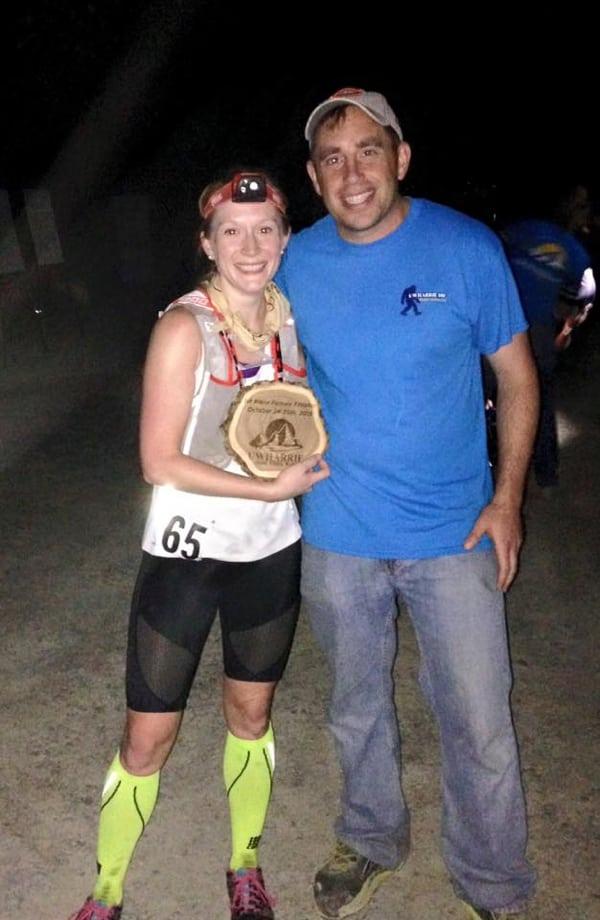 Natalie Halpin - 2015 Uwharrie 100k champion - by Uwharrie Mountain 100 Mile Trail Run