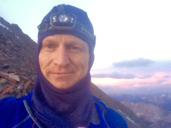 Andrew takes a selfie on Windom Peak on Day 1 (Andrew Hamilton)