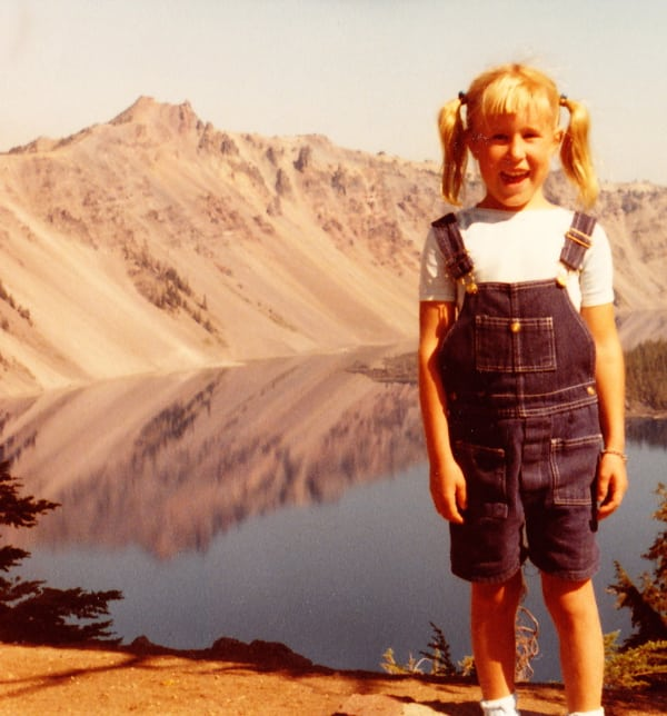 Pam Smith at Crater Lake as a child