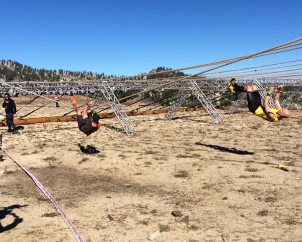 Cody Moat follows eventual winner Robert Kilian, 2015 Spartan World Championship by Spartan Race