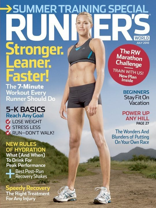 Runners World cover - July 2010