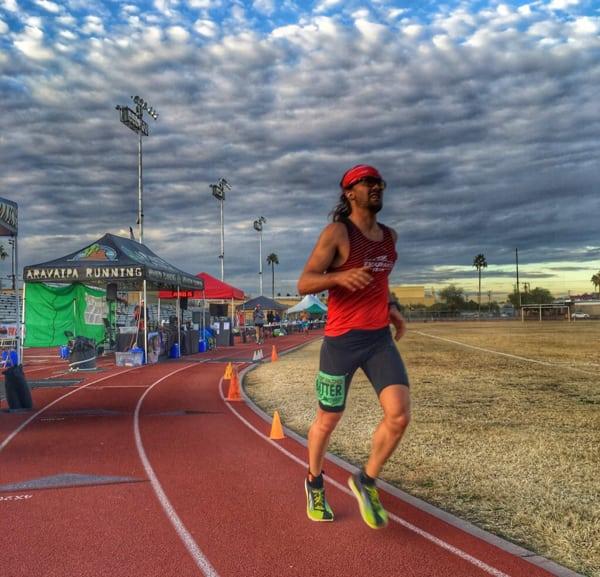 Zach Bitter - track 100-mile American record at the 2015 Desert Solstice Invitational 1