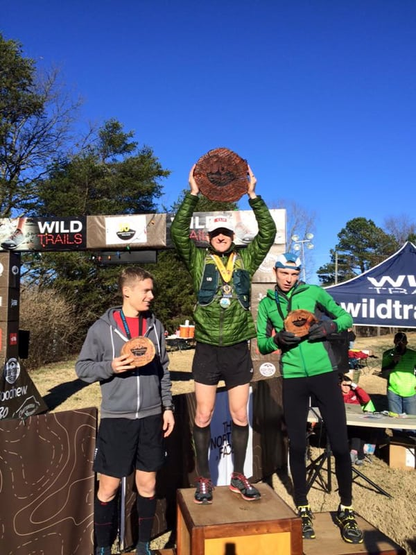 Men's podium, by Lookout Mountain 50 Mile