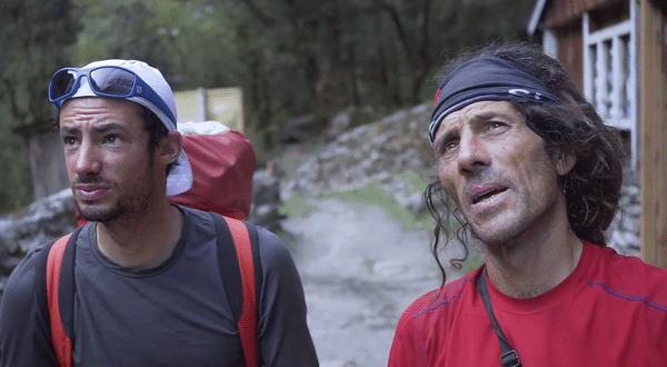 Kilian Jornet and Jordi Tosas in Langtang Valley